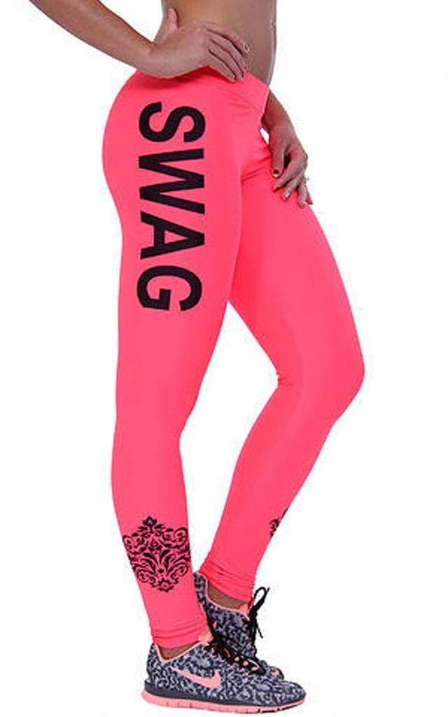 Xiang Ru Pants Womens Power Flexy Trousers Workout Leggings Black Letter Asia 3XL
