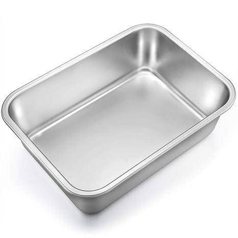 Amazon.com: TeamFar Lasagna - Molde rectangular para tartas ...