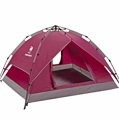系譜紀元前特にシュウクラブ@ 屋外キャンプテント油圧自動ダブルデッキシェード防風防水テント名:テント (色 : 赤)