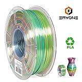 Silk Rainbow PLA Filament 1.75mm, ERYONE 3D Printer PLA Filament for 3D Printer and 3D Pen, Muliticolour PLA,1kg(2.2LBS)/Spool