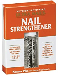 Natures Plus Ultra Nails Nutrient Activated Strengthener - .25 fl oz - Naturally Strengthens Nails & Cuticles, Contains Calendula, Lavender & Tea Tree - Formaldehyde Free, Vegan