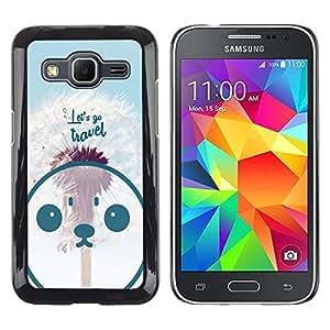 Dragon Case - FOR Samsung Galaxy Core Prime - let's go travel - Caja protectora de pl??stico duro de la cubierta Dise?¡Ào Slim Fit