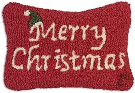 Chandler 4 Corners Merry Christmas 8 x12 Hooked Pillow