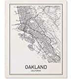 Oakland Poster, Map of Oakland, Oakland Map, City Map Posters, Modern Map Art, City Prints, California Art, Minimal Print, Oakland Wall Art, City Poster, City Map Wall Art, minimalist posters, 8x10