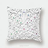 Custom Satin Pillowcase Protector White Stucco Design Of Native Thai Style On The Wall 264728516 Pillow Case Covers Decorative