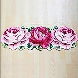 HOMEE Water absorption thicker roses non-slip home carpet living room bedroom bed blanket bathroom foot pad,45Cm160Cm