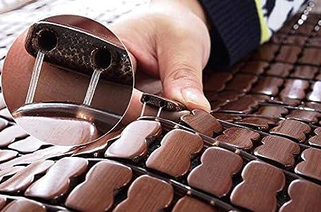 2 Pezzi Ecloud Shop Stuoia di bamb/ù per Cuscino del Sedile Fresco Cuscino per Sedia Quadrato 45 cm Stuoia Fresca Traspirante rinfrescante Naturale per LEstate