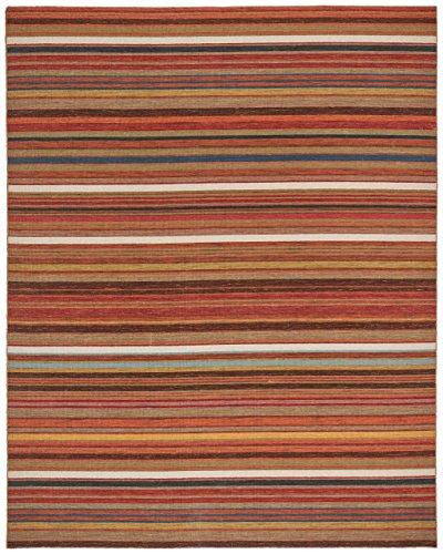 Multi Stripe Rug - Stone & Beam Modern Multi-Colored Stripe Area Rug, 5 x 8 Foot, Sun Multi