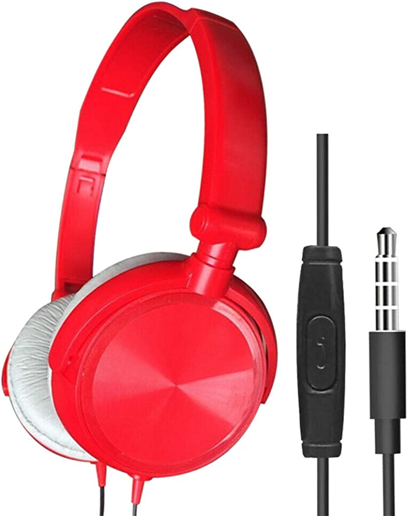 Wired Over Ear Stereo Earphone,Foldable DJ Bass Noise Canceling Headphone