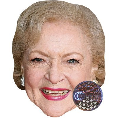 Betty White Celebrity Mask, Card Face and Fancy Dress Mask]()