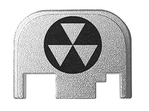for Glock Back Plate Gen 1-4 17 19 21 22 23 27 30 34 36 41 Silver NDZ - Fallout Shelter Symbol 1