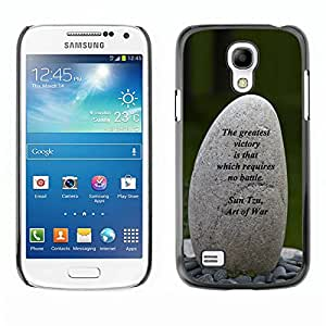 Caucho caso de Shell duro de la cubierta de accesorios de protección BY RAYDREAMMM - Samsung Galaxy S4 Mini i9190 MINI VERSION! - Art Of War Victory Battle Inspiring