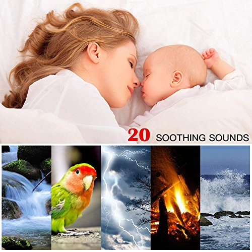 White Noise Sleep Sound Therapy Machine and Sleep Timer for Baby, Adults, Sound Effects