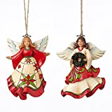 Jim Shore Heartwood Creek Holiday Angels Christmas Ornaments Set of 2 4051331
