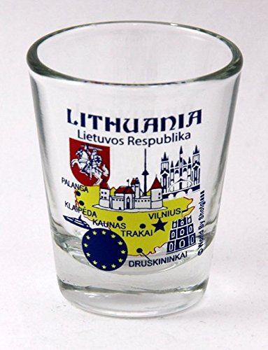 Lithuania EU Series Landmarks and Icons Shot Glass