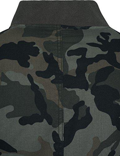 Vintage Urban Jacket Chaqueta Bomber Mehrfarbig Camo Cotton Wood Hombre Classics 396 Camo 55rBwqfU