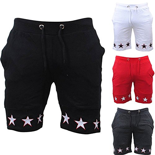 vermers Big Promotion Fashion Mens Beach Shorts Star Print Casual Pocket Work Short Pants(M, Black) by vermers