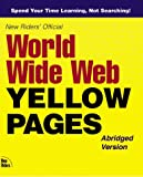 New Rider's Official World Wide Web Yellow Pages, Marcia Layton, 0735700052