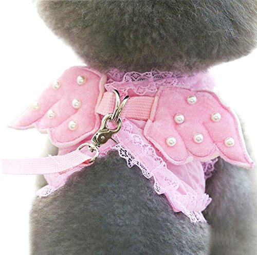 M2cbridge-Pink-Dog-Puppy-Harness-Leash-Collar-Cat-Vest-Strap-With-Angel-Wings-XS