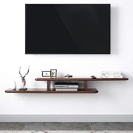 Asimetría Flotante TV Mueble Gabinete,Pared Consola para TV Madera Almacenamiento para Set-Top Caja Cable Caja Pared Moderna Decoración Madera 150x22x14cm(59x9x6inch): Amazon.es: Hogar