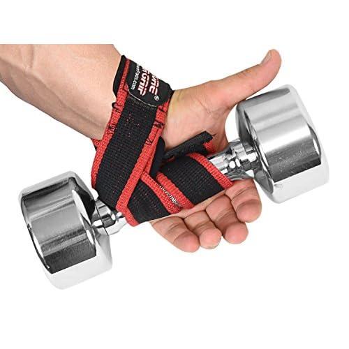 1 Paire de Lanières de Musculation pour Levage de Poids Lourds en Cotton avec Coussinet de Néoprene pour un Meilleur Support des Poignets par Grip Power Pads