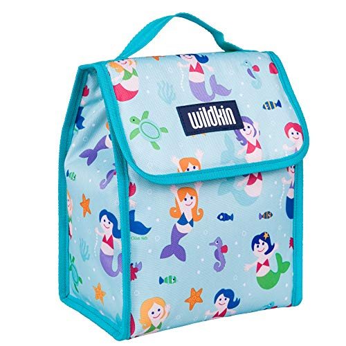 Lunch Bag, Olive Kids by Wildkin Lunch Bag, Insulated, Moisture Resistant, Easy to Clean and Folds Flat Making Storage That Much Easier, Ages 3+, Perfect for Kids or On-The-Go Parents – Mermaids
