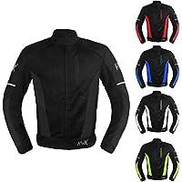 Mesh Motorcycle Jacket Textile Motorbike Summer Biker Air...