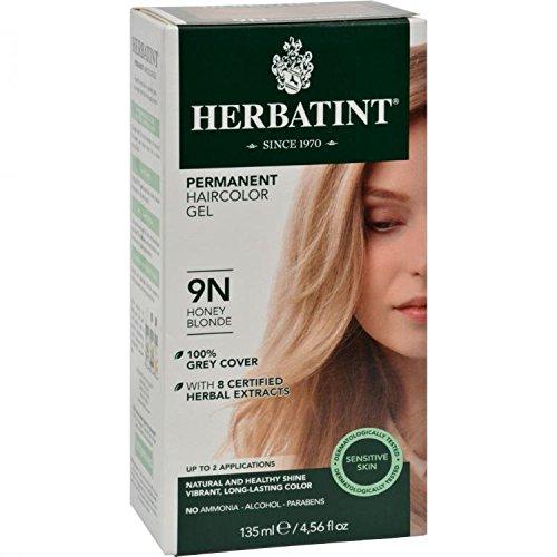 Herbatint Permanent Herbal Haircolor Gel, 9N Honey Blonde, 4 Ounce by Herbatint by Herbatint