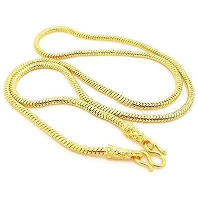 Amazoncom 22K 23K 24K THAI BAHT GOLD GP NECKLACE 24 inch 60 Grams