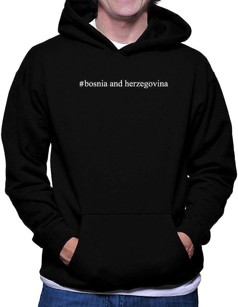 Teeburon Bosnia and Herzegovina Hashtag Hoodie