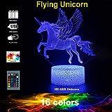 Unicorn Night Light Latest Design! Unicorn lights for bedroom 3d lights optical illusion