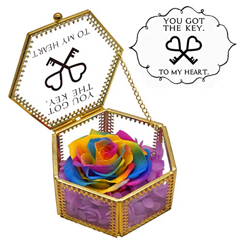 Vencer 'You Got The Key to My Heart Glass Jewelry Box with...