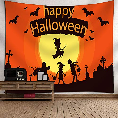 Lalago Halloween Tapestry Decorations, Festival Tapestry Halloween Decoration Wall Hanging Tapestry Beach Blanket Picnic Sheet Carpet Halloween Party Decoration (60