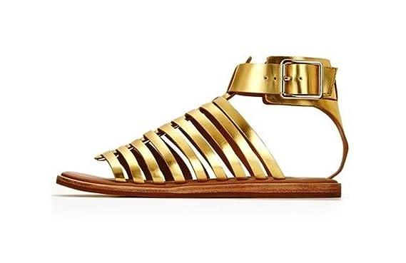 5245bd6ab9f Clarks Renee Ice Flat Gladiator Sandal - Gold - UK 8 D   EU 42 ...