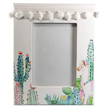 Barry Owens Co. Inc. Llama and Cactus Design Photo Frame, Holds 5 Inch x 7 Inch Picture
