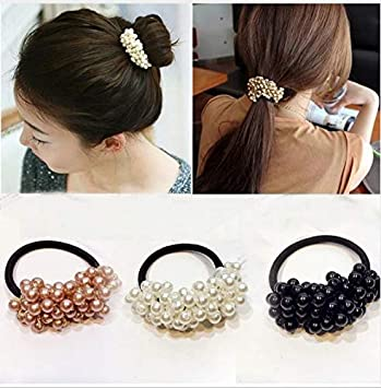 Fashion Elastic Rope Ladies Hair Ties Ponytail Holder Head Band Hairband 6A