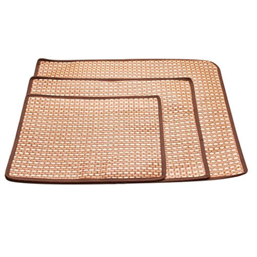 ♣Cat Dog Puppy Mat Pad Smdoxi Summer Cooling Cushion ♣ Cold Bed Bamboo Mat Ice Sleeping Mat Heat Dissipation Pad (S)