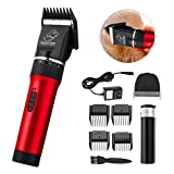 Bestdream Professional Dog Grooming Clippers Low Noise Safe Electric Rechargeable Cordless Animal Trimmer Pet Hair Grooming Tool Kit US Plug