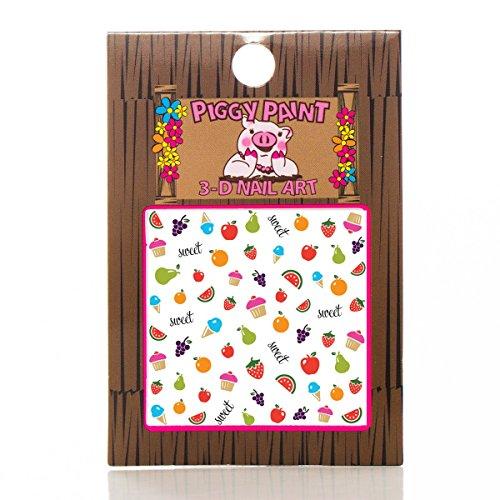 Piggy Paint Nail Art Sticker Accessories for Girls Fingernails - Sweetie by Piggy Paint