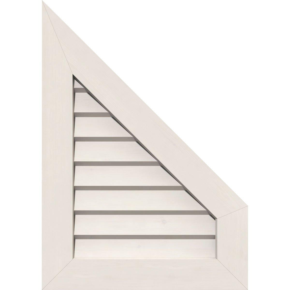 Ekena Millwork GVPPR16X2001DUN-12 Pvc Gable Vent, 16'' W x 20'' H (21'' W x 25'' H Frame Size), White