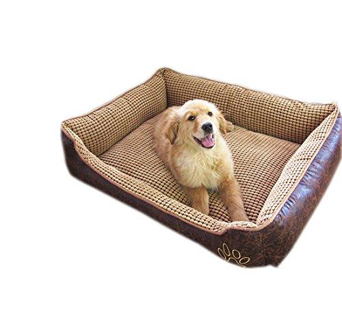 Reversible Dog Bed Cuddler Bolster Pet Bed for Dogs & Cat...