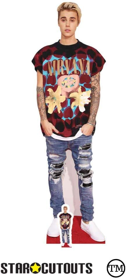 Multi colour STARL CUT OUTS Justin Bieber purpose Life Size Cardboard Cut Out