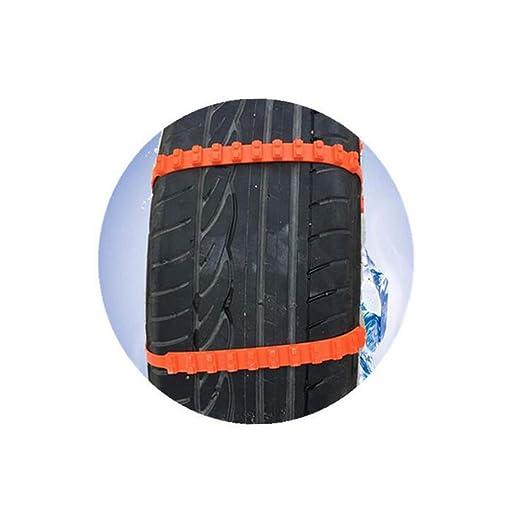 10PCS coche antideslizante Cadenas Para Nieve Neumático Neumático Rueda de nylon correa de cadena de carne tendón