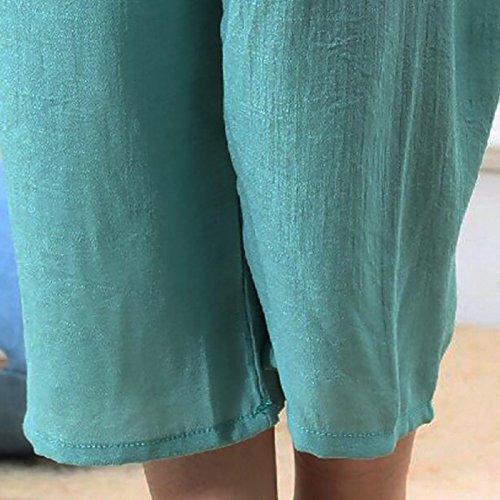 Da In Allentato Green Da Pigiama XL Pigiama Lunghe Pantaloni FHTD Maniche Cotone Donna Girocollo Beanred Comfort Pigiameria Ampio Set Donna g1Rtq