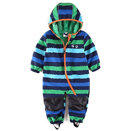 - umkaumka Baby Boy Coveralls Bundlers All in One Bibs Fleece Set 24 Months