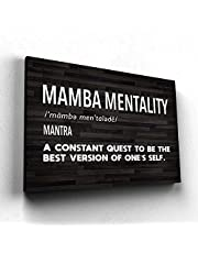 Motivational Canvas Art Posters and Prints Canvas Mamba Mentality Quotes Wall Decor Painting For Living Room Decor Boy Gift 60x80cm No Frame