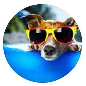 alfombrilla de ratón perro de la playa - ronda - 20cm