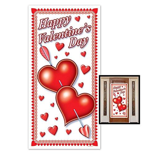 Valentine Door (Beistle Happy Valentines Day Door Cover, 30-Inch by 5-Feet (3-Pack))