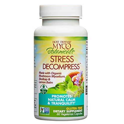 MycoBotanicals Stress Decompress Mushrooms and Herbs Capsules, Aids Mental Relaxation, Calm, Energy, and Refreshed Adrenals with Lions Mane, Reishi, and Ashwagandha, Non-GMO, Vegan, Organic, 60 Count