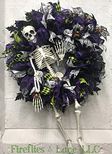 Mr. Bones Halloween Wreath